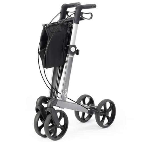 premium leichtmetall rollator 39 vital 39 rollatoren gehhilfen hilfsmittel f r. Black Bedroom Furniture Sets. Home Design Ideas