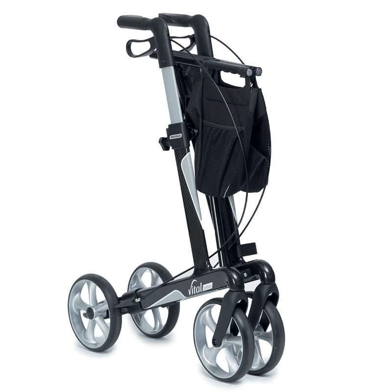 carbon rollator vital rollatoren gehhilfen hilfsmittel f r senioren. Black Bedroom Furniture Sets. Home Design Ideas