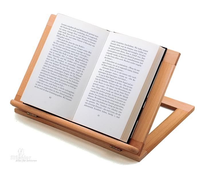 buchst tze b cherhalter aus holz 3 fach verstellbar lesehilfen buchst tzen. Black Bedroom Furniture Sets. Home Design Ideas